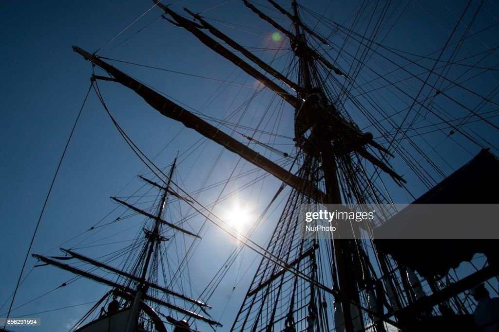Italian navy's ship Amerigo Vespucci is to Naples, Italy, October on 06,2017