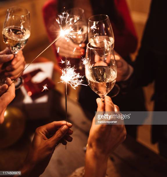 italian new year party - new year's eve stock pictures, royalty-free photos & images