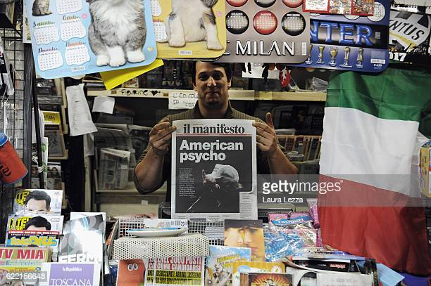 Italian newspapers show US Republican candidate and President Elect Donald Trump on their front pages the day after Trump was announced the winner in...