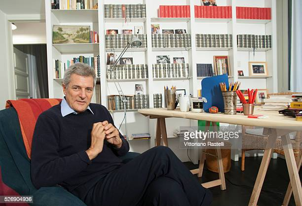 Italian novelist intellectual and journalist Alain Elkann at his home in Rome