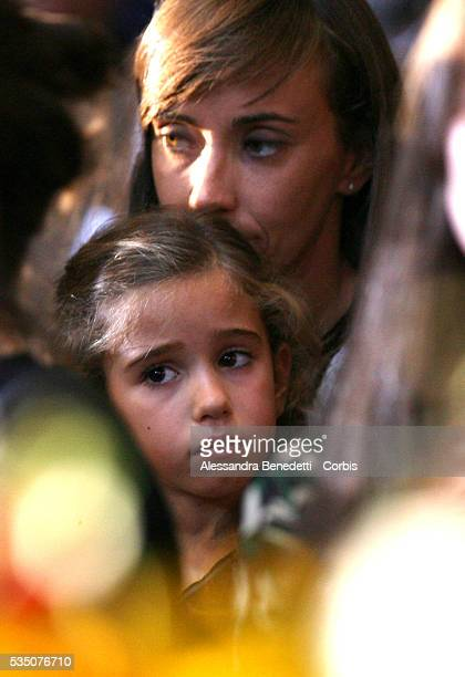 Italian opera legend Luciano Pavarotti's daughter, Alice at his funeral inside the Modena cathedral.