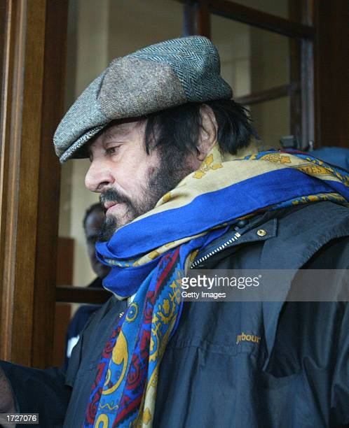 Italian opera singer Luciano Pavarotti leaves Saint Orsola hospital after visiting his partner Nicoletta Mantovani January 15, 2003 in Bologna,...
