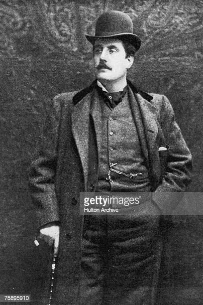 Italian operatic composer Giacomo Puccini , circa 1900.