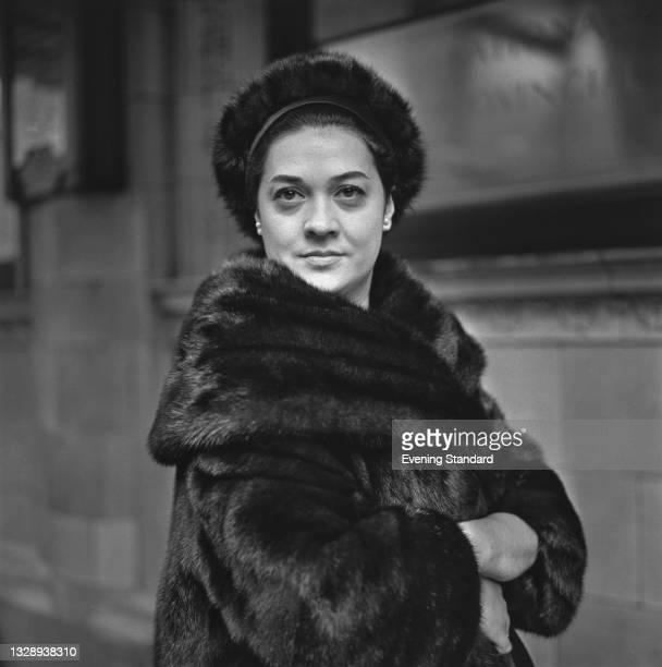 Italian operatic mezzo-soprano Fiorenza Cossotto, UK, 26th October 1965. She is appearing as Azucena in the Verdi opera 'Il Trovatore' at the Royal...