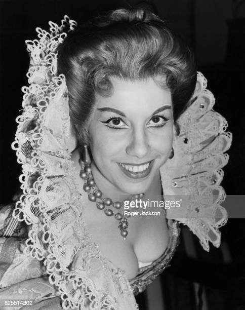 Italian operatic soprano Ilva Ligabue as Mistress Ford in the opera 'Falstaff' during dress rehearsals at the Royal Opera House in London 15th...