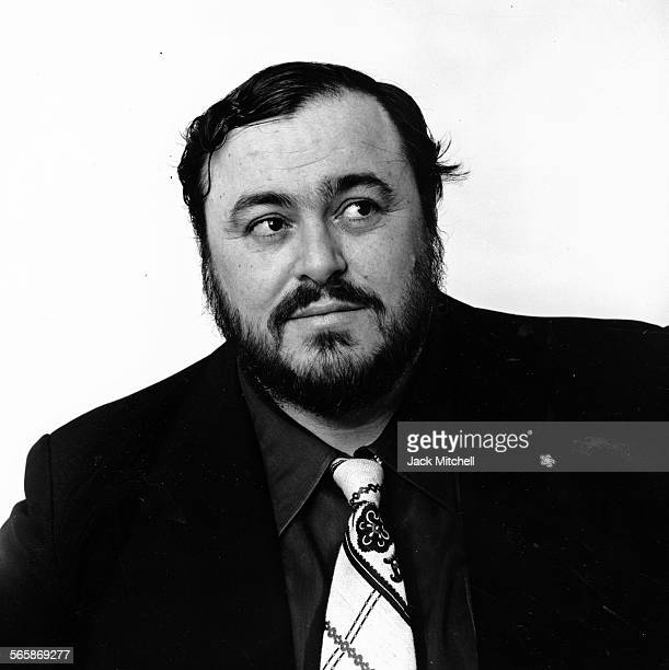 Italian operatic tenor Luciano Pavarotti, 1976. Photo by Jack Mitchell/Getty Images.