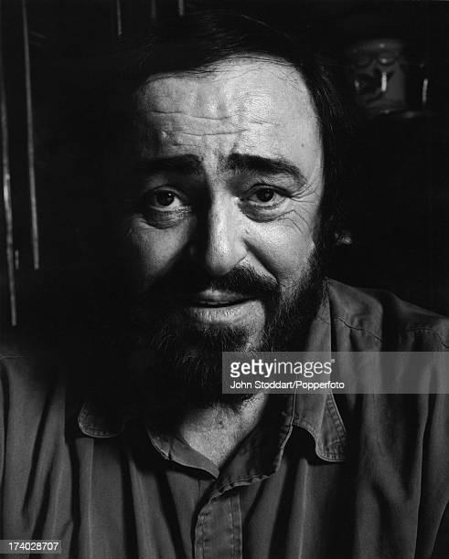 Italian operatic tenor Luciano Pavarotti in Naples Italy in 1996