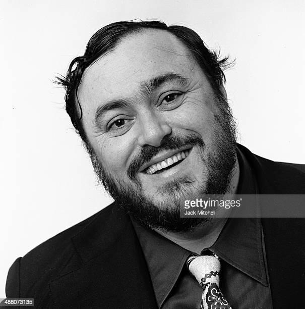 Italian operatic tenor Luciano Pavarotti photographed in New York City in March 1976