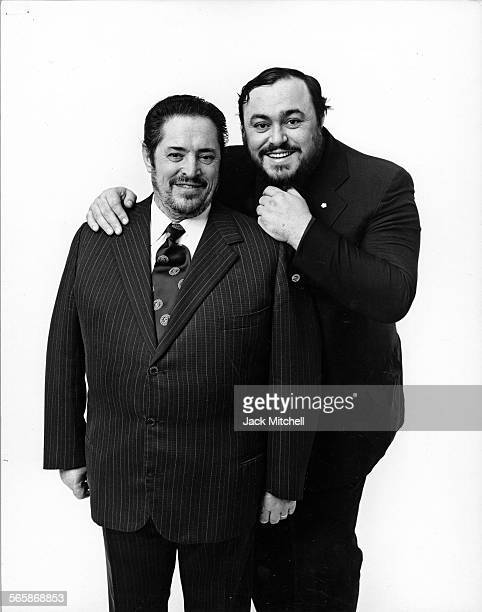Italian operatic tenor Luciano Pavarotti with his father Fernando 1976 Photo by Jack Mitchell/Getty Images
