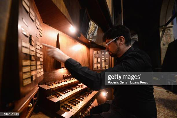 Italian organist Francesco Filidei performs in concert with the american musician and composer Roscoe Mitchell for Angelica International Festival of...