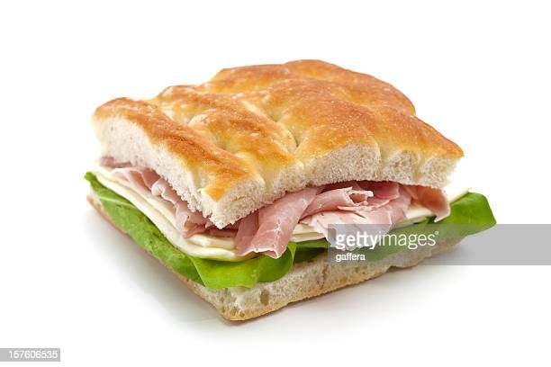 italian panino - prosciutto stock photos and pictures