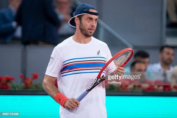 Italian Paolo Lorenzi during Mutua Madrid Open 2018 at Caja Magica in Madrid Spain May 08 2018
