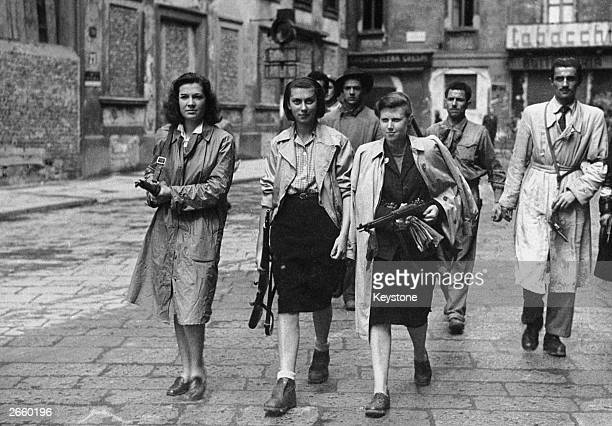 Italian partisans associated with the Partito d'Azione during the liberation of Milan.