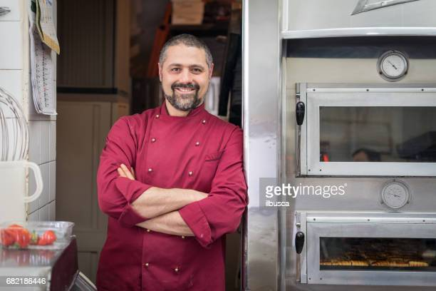 Italian pastry making patisserie baking confectioner: Owner portrait