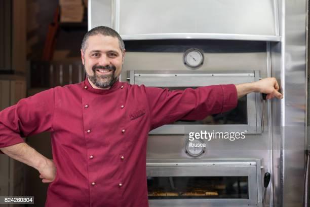 Pâtisserie boulangerie pâtisserie de patisserie italienne: portrait de la propriétaire