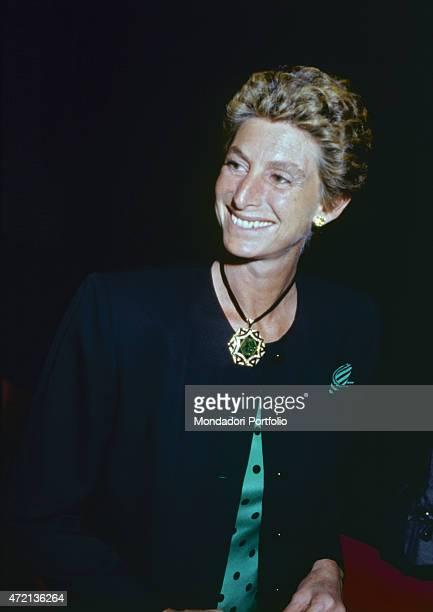 'Italian philanthropist Allegra Caracciolo smilig Italy 1980s '