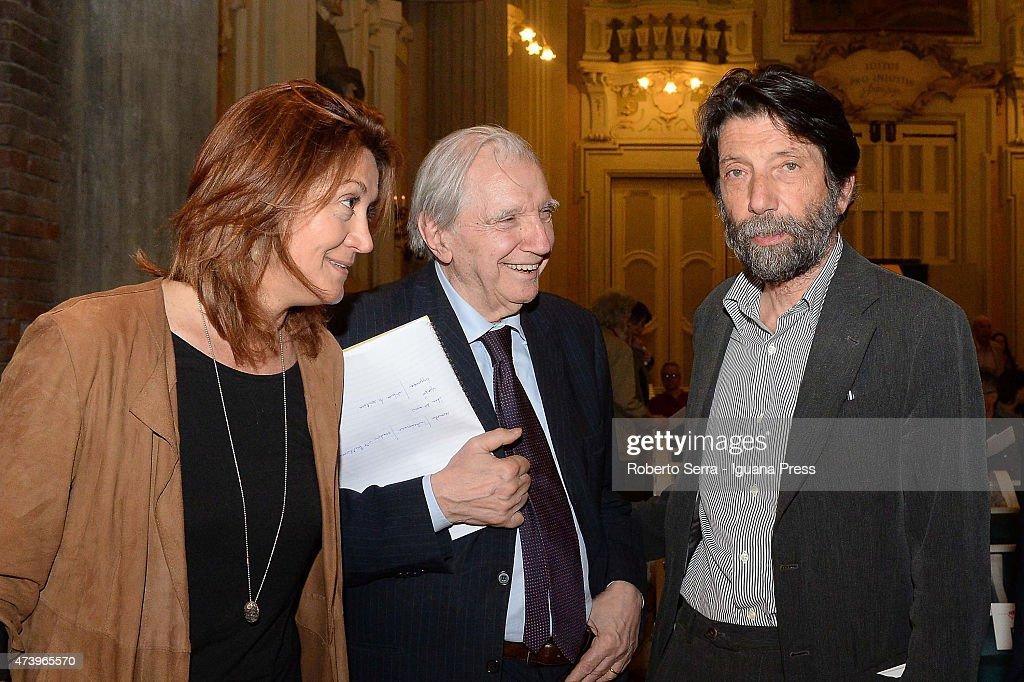 Helmut Lachenmann And Massimo Cacciari Hold A Conference About Luigi Nono