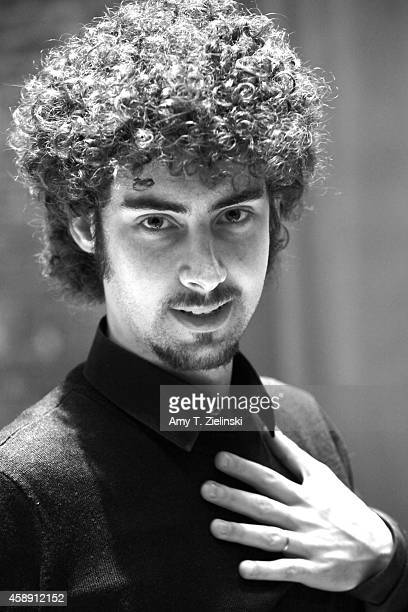 Italian Pianist Federico Colli poses after rehearsing on stage works by composer Franz Schubert before a live recital and BBC Radio 3 recording at...
