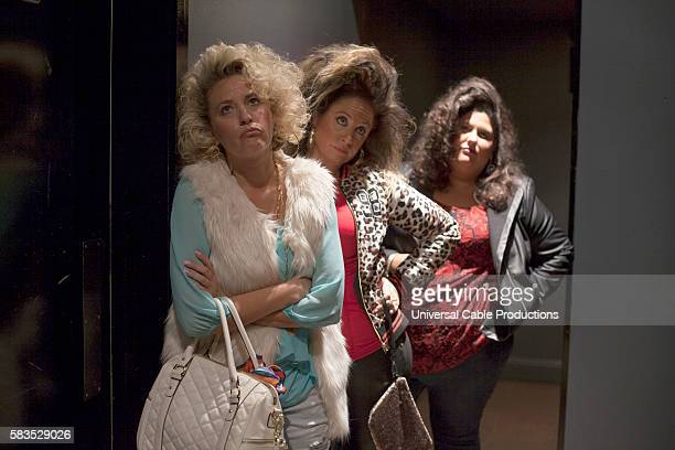 PEOPLE Italian Piñata Episode 203 Pictured Jamie Denbo as Rizzo Jessica Chaffin as Joni Chelsey Donn as Therese