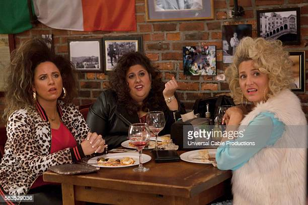 PEOPLE Italian Piñata Episode 203 Pictured Jessica Chaffin as Joni Chelsey Donn as Therese Jamie Denbo as Rizzo