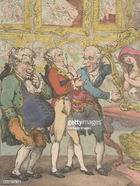 Italian Picture Dealers Humbugging My Lord Anglaise May 30 1812 Artist Thomas Rowlandson