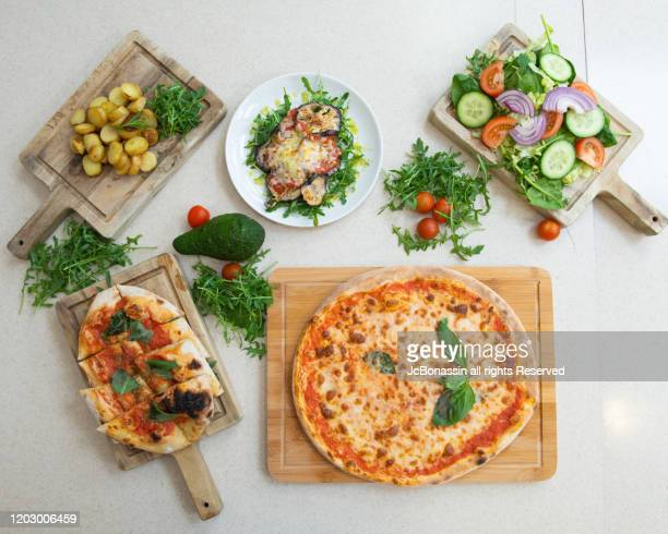 italian plates - jcbonassin stock pictures, royalty-free photos & images