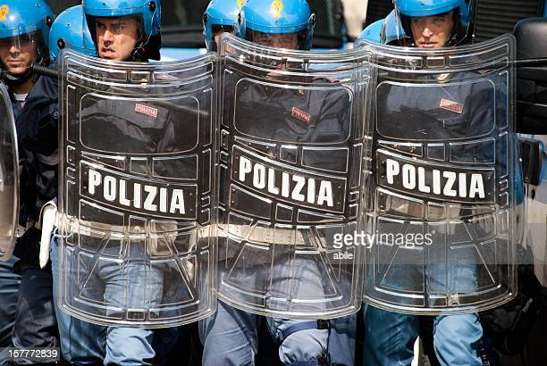 Italian Police in anti-riot structure