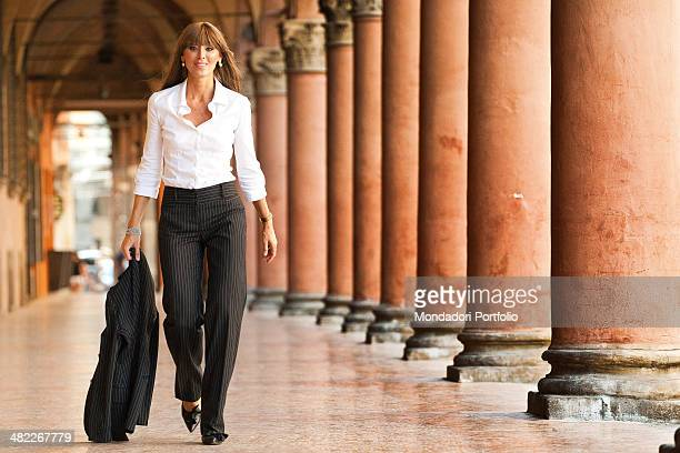 Italian politician and lawyer Anna Maria Bernini walking along the colonnade of piazza Santo Stefano Anna Maria Bernini has been recently appointed...