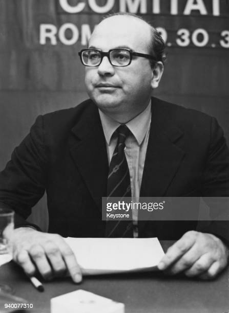 Italian politician Bettino Craxi , a candidate for the post of Secretary of the Italian Socialist Party, circa 1975.