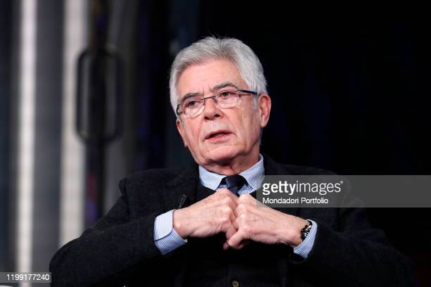 Italian politician Claudio Martelli during tv broadcast Porta a Porta Rome January 9th 2020
