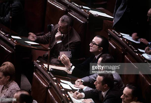 Italian politician Giulio Andreotti attending the 15th National Congress of Cristian Democratic Party Rome May 1982