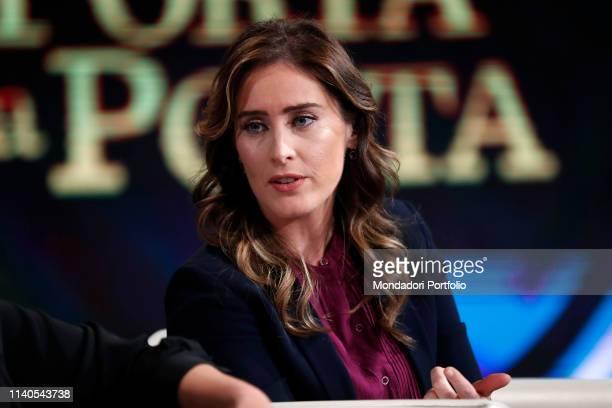 Italian politician Maria Elena Boschi guests at the TV show Porta a Porta Rome April 3rd 2019