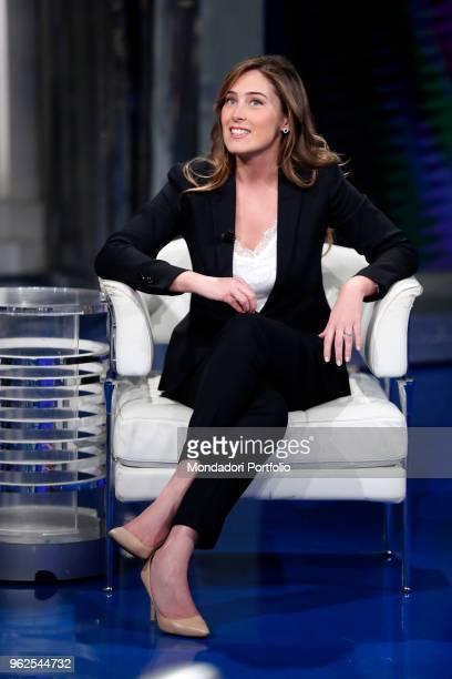 Italian politician Maria Elena Boschi of Democratic Party attends the tv show Porta a Porta Rome May 8h 2018