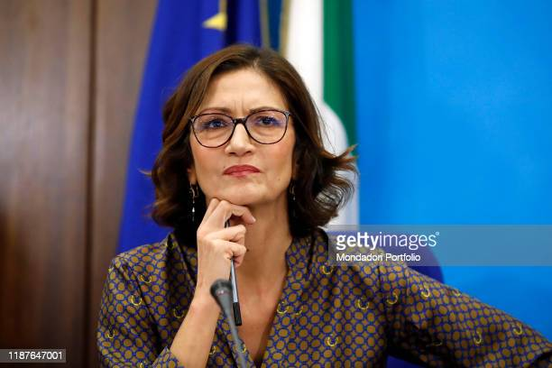 Italian politician Mariastella Gelmini, leader of the Forza Italia Chamber, during the No Tasse e Manette press conference in Montecitorio. Rome ,...