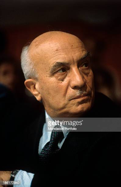 Italian politician Member of Parliament historian and economist Amintore Fanfani he was one of the founders of Christian Democracy and leading man of...