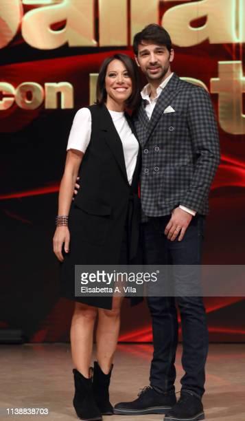 Italian politician Nunzia De Girolamo and her dance partner Raimondo Todaro attend the photocall for Ballandro Con Le Stelle at RAI Auditorium on...