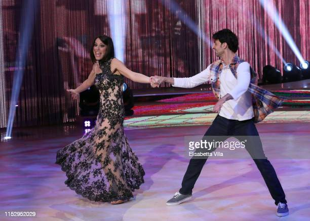 Italian politician Nunzia De Girolamo and her dance partner Raimondo Todaro perform on the Ballando Con Le Stelle tv show on May 31 2019 in Rome Italy