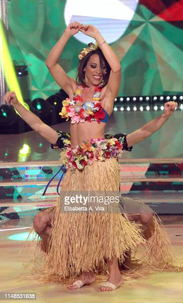 Italian politician Nunzia De Girolamo performs on the Italian TV show Ballando Con Le Stelle at RAI Auditorium on May 11 2019 in Rome Italy