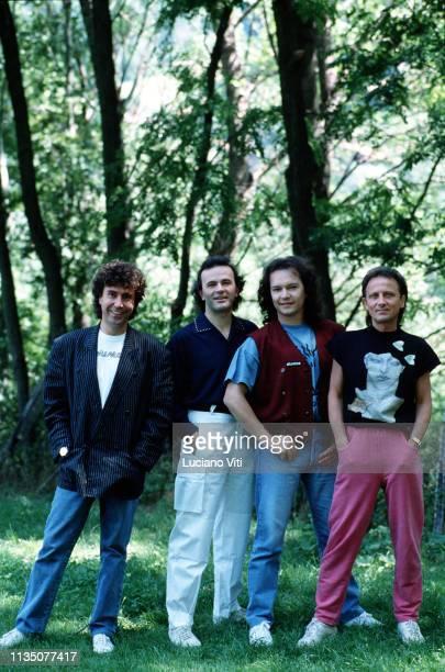 Italian pop band Pooh , Saint Vincent, Aosta, Italy, circa, 1988.