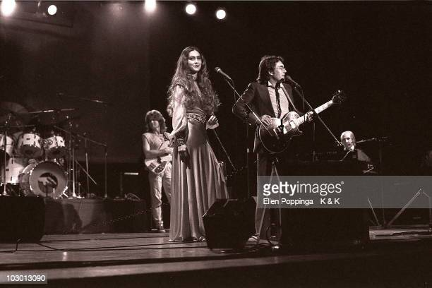 Italian Pop Duo Al Bano and Romina Power perform live on stage in Hamburg Germany in 1983