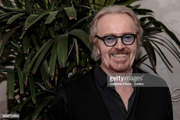 """Italian pop rock singer-songwriter Umberto Tozzi attends a photocall for the celebration of 40 years of """"Ti amo"""" and for the presentation of the new..."""