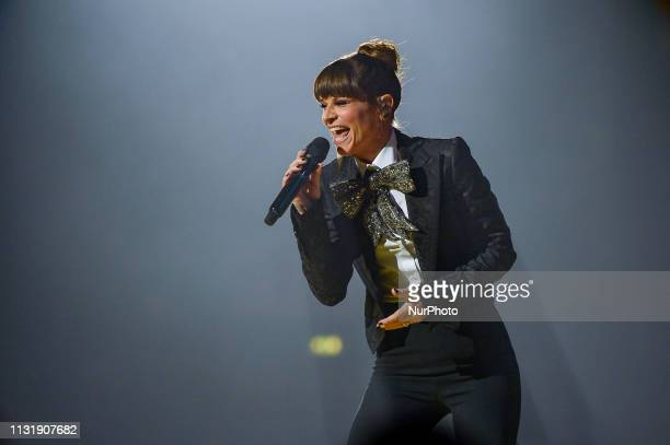Italian pop singer Alessandra Amoroso performs live at the Palalottomatica in Rome Italy on March 21 2019