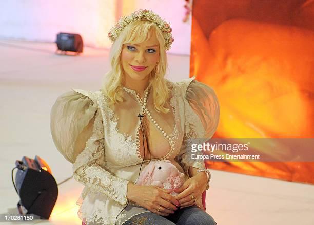 Italian porn actress Cicciolina attends Valencia Erotic Festival on June 7 2013 in Valencia Spain