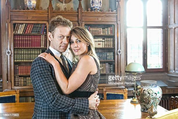 Italian pornographic actor and director Rocco Siffredi hugging his Ungarianborn Italian wife and porn star Rosa Caracciolo 30th November 2011
