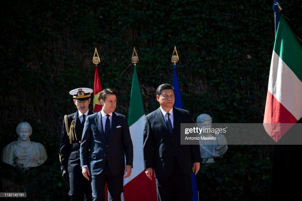 ITA: China's President Xi Meets Prime Minister Giuseppe Conte And Signs A Memorandum Of Understanding on new Silk Belt and Road Initiative