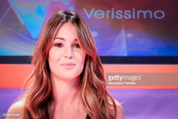 Italian presenter Silvia Toffanin during the television broadcast Verissimo. Milan , September 15th, 2010