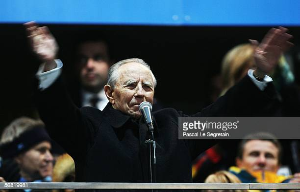 Italian President Carlo Ciampi speaks at the Opening Ceremony of the Turin 2006 Winter Olympic Games on February 10 2006 at the Olympic Stadium in...