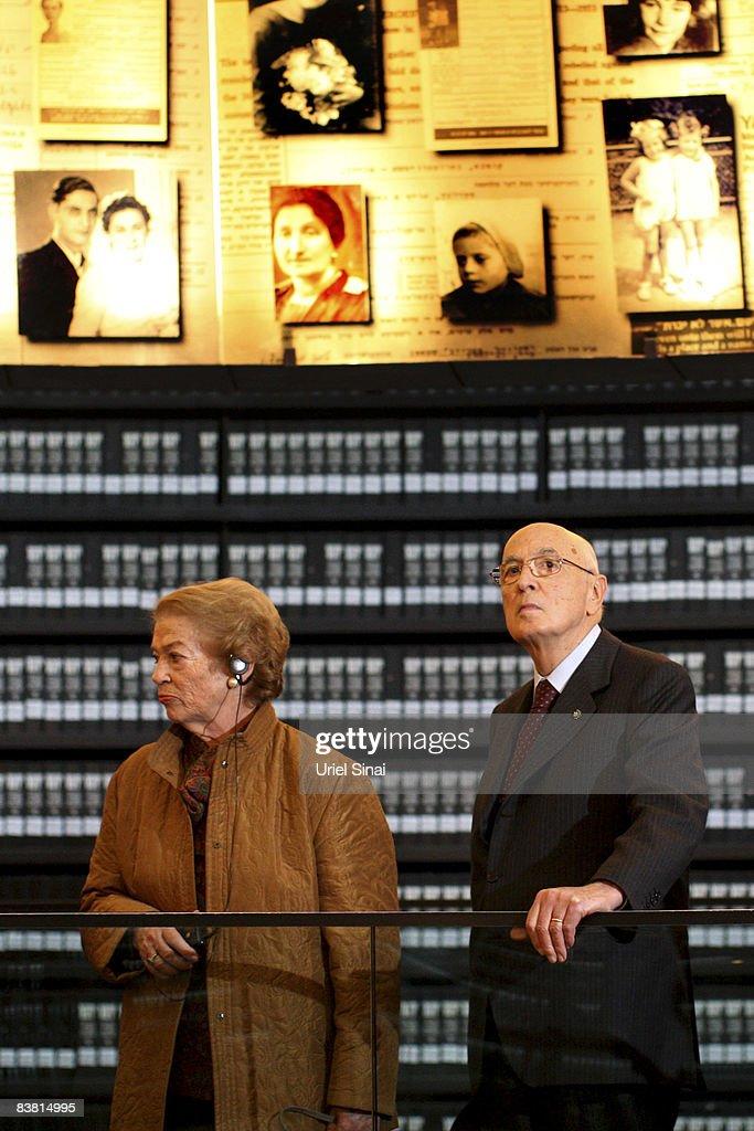 Italian President Giorgio Napolitano Visits Israel : Foto di attualità