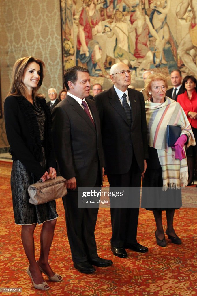 King And Queen Of Jordan State Visit At Palazzo Quirinale