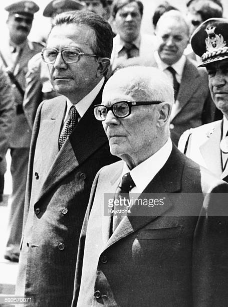 Italian President Sandro Pertini with Prime Minister Giulio Andreotti following his appointment July 1978
